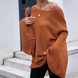 Bell Sleeve Rust Color Sweater